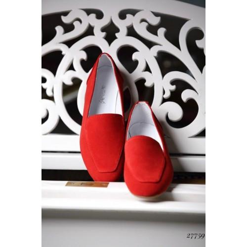Туфли лоферы замшевые Nina_mi 37, Красный