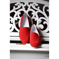 Туфли лоферы замшевые Nina_mi 37, Красный, фото 1