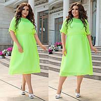 Женское летнее платье батал с 48 по 58 рр шифон