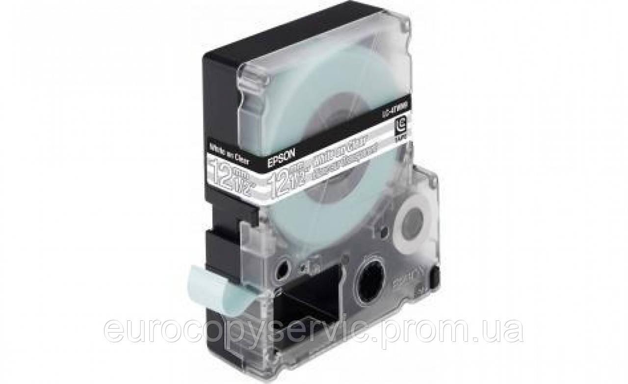 Картридж зі стрічкою Epson LK4TWN принтерів LW-300/400/400VP/700 Clear White/Clear 12mm/9m (C53S654013)