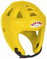"""Шлем для кикбоксинга Top Ten """"Avantgarde"""" Желтый, L = 58 - 64 cm"""