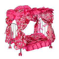 Кроватка для кукол MELOGO 9350/015 с балдахином и постелькой