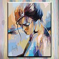 """Набор для творчества Картина по номерам ТМ Идейка на подрамнике, Девушка """"Абсолютная нежность """"40*50 см"""