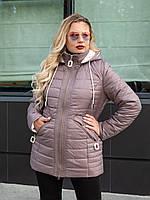 Куртка женская осень-весна большого размера  50-60 шоколадный