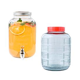 Лимоннадницы, скляні бутлі для напоїв та вина