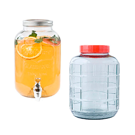 Лимоннадницы, стеклянные бутыля для напитков и вина
