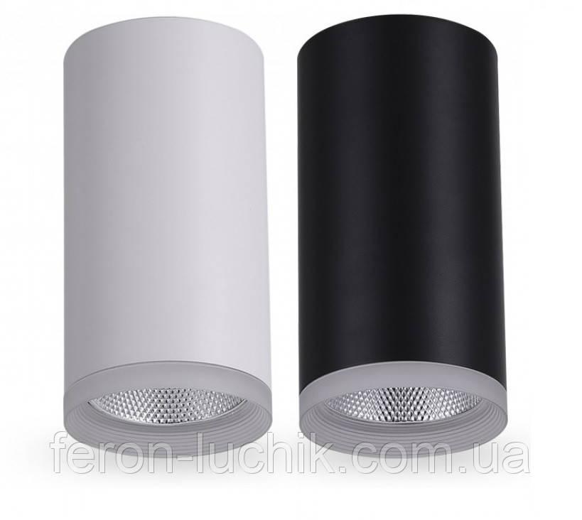 Стельовий світильник LED Feron AL540 14W 4000K 1190Lm накладної точковий світлодіодний Чорний, Білий