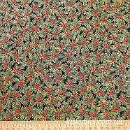 57002 Новогодняя ягодная (темный фон). Ткань с золотом. Ткань для рукоделия.., фото 3