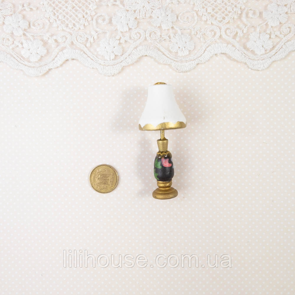 "1:12 Миниатюра ""Лампа светильник ретро"""