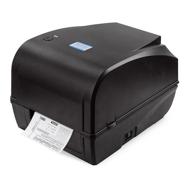Принтер этикеток, термотрансферный принтер штрих кодов, QR кодов Xprinter XP-H400B USB 108mm