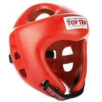 """Шлем для кикбоксинга Top Ten """"COMPETITION FIGHT"""" Красный, L = 58 - 64 cm"""
