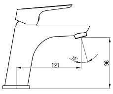 Змішувач для раковини / умивальника IMPRESE KUCERA 05105  хром, фото 2