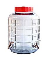 Бутыль стеклянный с двумя кранами, фото 1