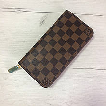 Большой кошелек реплика Louis Vuitton на молнии   LV   лв (0813) квадрат Коричневый