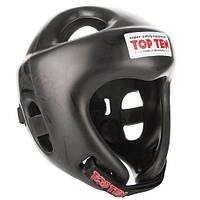 """Шлем для кикбоксинга Top Ten """"COMPETITION FIGHT"""" Черный, L = 58 - 64 cm"""