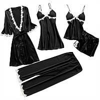 Женский эротический комплект белья. Халатик, шортики, штанишки, маечка, ночная рубашка
