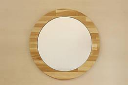 Зеркало круглое в раме из массива дерева 024