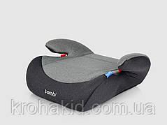 Бустер в автомобиль с подлокотниками M 2784 Gray Mix «Bambi» детский, 38-35-16см (серый)