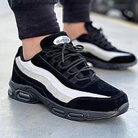 Мужские черные демисезонные кроссовки в стиле Nike Air Max 95 Размеры 44, 46
