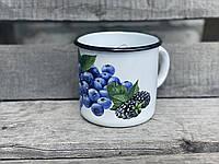 Кружка эмалированная 1л Голубика Idilia 0107/2, фото 1