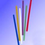 Трубочки -мешалки 130мм/1000шт овальные полосатые для алкоголя
