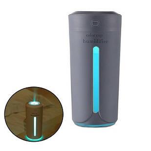 Увлажнитель воздуха ультразвуковой с подсветкой, 230мл портативный, HUM001