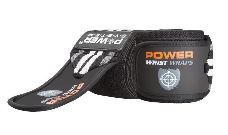Кистьові бинти Power System Wrist Wraps PS-3500 Grey/Black Чорно-сірий
