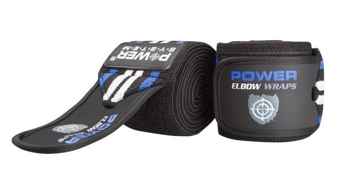 Ліктьові бинти Power System Elbow Wraps PS-3600 Blue/Black Чорно-синій