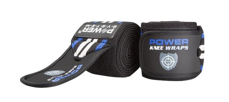 Бинти на коліна Power System Knee Wraps PS-3700 Blue/Black Чорно-синій