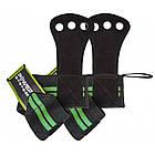 Накладки гимнастические Power System Crossfit Grip PS-3330 Black/Green (Пара) Черно-зеленый, фото 2
