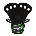 Накладки гимнастические Power System Crossfit Grip PS-3330 Black/Green (Пара) Черно-зеленый, фото 3