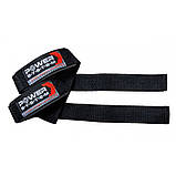Кистевые ремни Power System Power Straps PS-3400 Black/Red Черно-красный, фото 2
