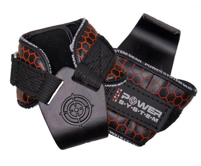 Гаки для тяги на зап'ястя Power System Hooks V2 PS-3360 Black/Red L Чорно-червоний