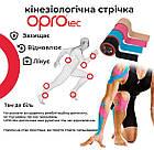 Кинезиологический тейп OPROtec Kinesiology Tape TEC57541 черный 5cм*5м, фото 3