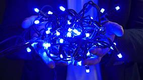 Гирлянда уличная LUMION нить 100LED 10m 230V цвет синий/черный, IP44 EN