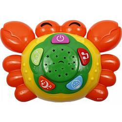 Игрушка-проектор Веселый Крабик Разноцветный gabkrp120Dify91825, КОД: 916328