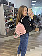 Рюкзак середнього розміру з кишенею зпереду Еко-шкіра (0501) Рожевий, фото 8