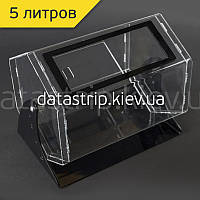 Лототрон 5 литров на черной подставке., фото 1
