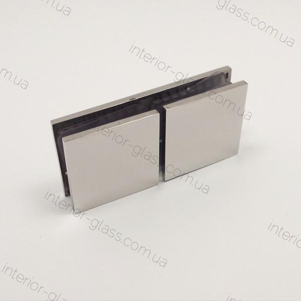 Соединитель стекло-стекло 180° HDL-724 CP полированный хром
