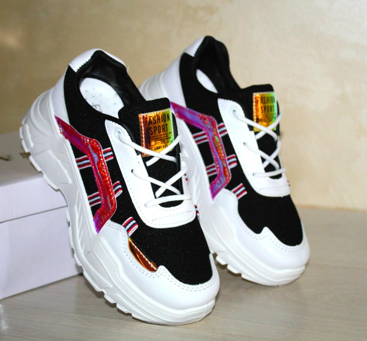Женские Стильные Кроссовки с Цветными вставками, Отличное качество, Размер 40