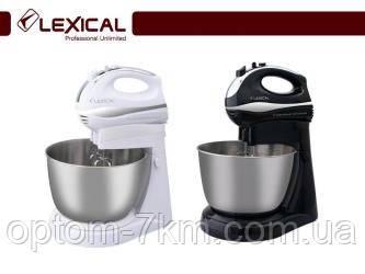 Професійний міксер LEXICAL LMB-1807 з металевої чашею 3.5 л, 2 види насадок, турбо-режим, 250Вт D
