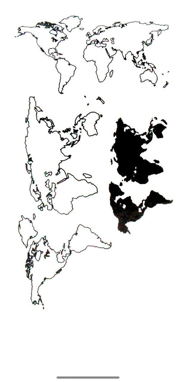 Бодиарт FAMO Тату Карта Мира One size (T-079)