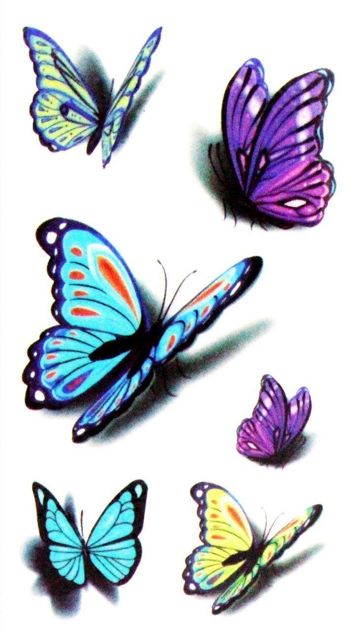 "Бодиарт FAMO Тату сет ""Бабочки 3D"" One size (WM-004)"