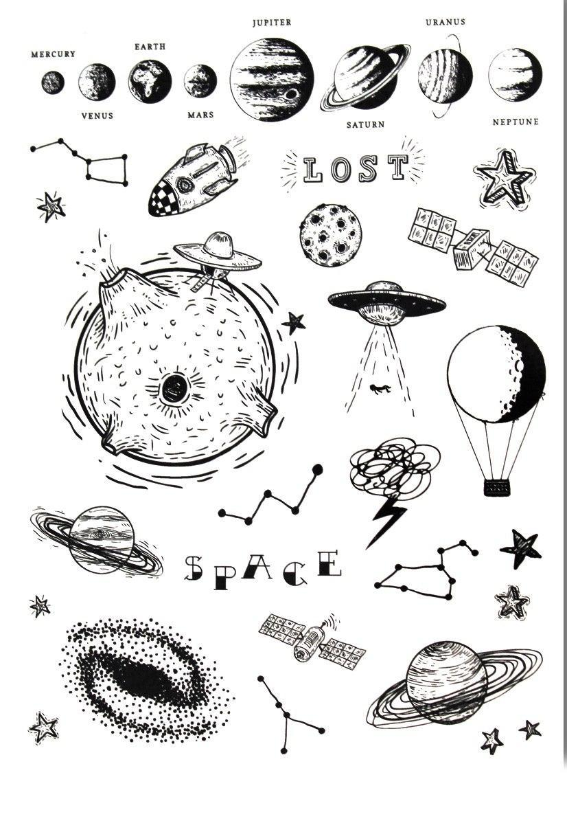 Бодиарт FAMO Тату сет Космический Бум One size (LC-124)