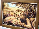 """Картина з янтаря """" Пара львов """" 40x60 см, фото 3"""