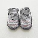 Детские носки с антискользящей подошвой серый цвет  (CM-13), фото 2