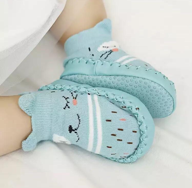 Дитячі шкарпетки з антиковзною підошвою CM-13 Бірюзові