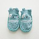 Дитячі шкарпетки з антиковзною підошвою CM-13 Бірюзові, фото 2