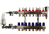 Коллектор для тёплого пола  GROSS на 8 контуров в сборе
