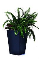 Горшок для растений Medium Rattan Planter серый